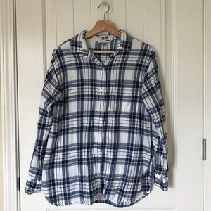 Blue Plaid Button Up by Old Navy